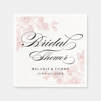 Vintage floral bridal shower napkins