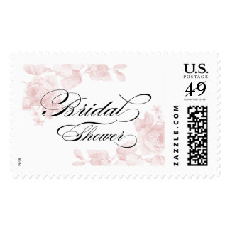 Vintage floral bridal shower postage stamp
