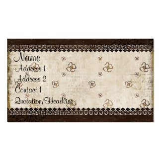 Vintage Floral Bronze & Cream  Business Card/Tags