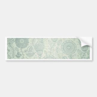 Vintage Floral Bumper Sticker