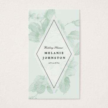 Professional Business Vintage floral business card