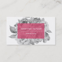 Vintage Floral Business Cards | Berry