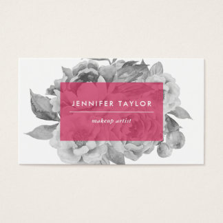 Vintage Floral Business Cards   Berry