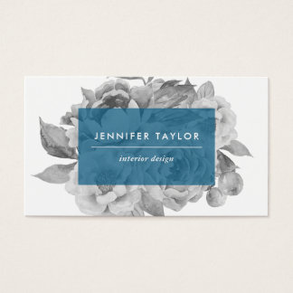 Vintage Floral Business Cards | Cerulean