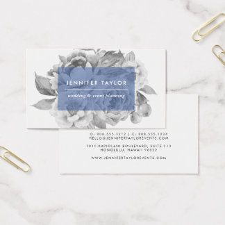 Vintage Floral Business Cards | Navy