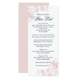 Vintage floral | Business Price List Card
