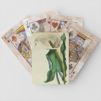 Vintage Floral Calla Lily Playing Cards