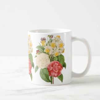 Vintage Floral Camelia Daffodil Flowers by Redoute Coffee Mug