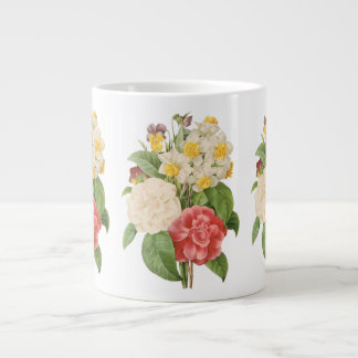 Vintage Floral Camelia Daffodil Flowers by Redoute Giant Coffee Mug