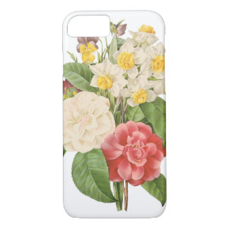 Vintage Floral Camelia Daffodil Flowers by Redoute iPhone 8/7 Case
