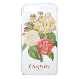 Vintage Floral Camelia Daffodil Flowers by Redoute iPhone 8 Plus/7 Plus Case