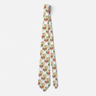 Vintage Floral Camelia Daffodil Flowers by Redoute Tie