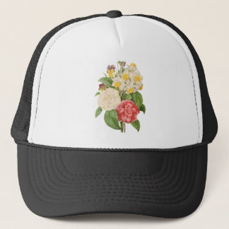 Vintage Floral Camelia Daffodil Flowers by Redoute Trucker Hat