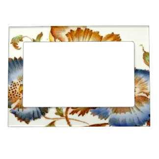Vintage Floral Ceramic Tile Fridge Art Gallery Magnetic Frame