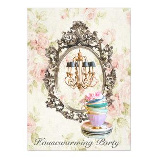 vintage floral chandelier Housewarming Party Invitation