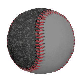 Vintage Floral Charcoal Black Gray Baseball