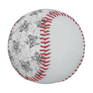 Vintage Floral Charcoal Gray Baseball