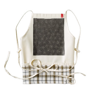 Vintage Floral Charcoal Gray Black Zazzle HEART Apron