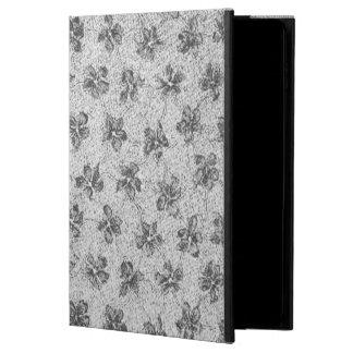 Vintage Floral Charcoal Gray Powis iPad Air 2 Case