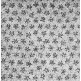 Vintage Floral Charcoal Gray  Violets Flowers Cutout