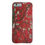 Vintage Floral Cherry Blossoms Personalized Barely There iPhone 6 Case