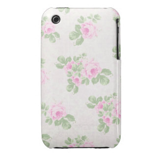 Vintage floral chic pink roses iPhone 3 Case-Mate cases