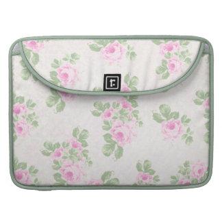 Vintage floral chic pink roses sleeve for MacBooks