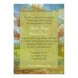 "Vintage floral Christian wedding invitations. 5"" X 7"" Invitation Card"