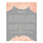 Vintage Floral Chrysanthemum Gray and Peach Announcements