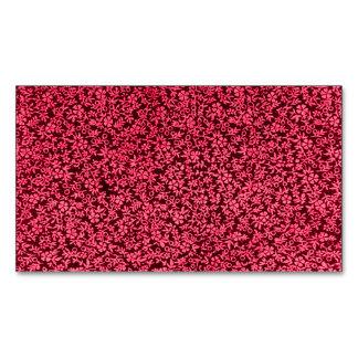 Vintage Floral Claret Ruby Red Magnetic Business Cards (Pack Of 25)