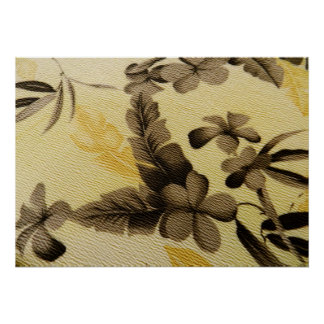 Vintage Floral Cloth Poster
