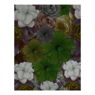 Vintage Floral Collage Letterhead