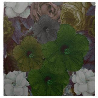 Vintage Floral Collage Napkin