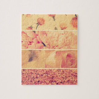 Vintage floral collage photos of loveliness style jigsaw puzzles