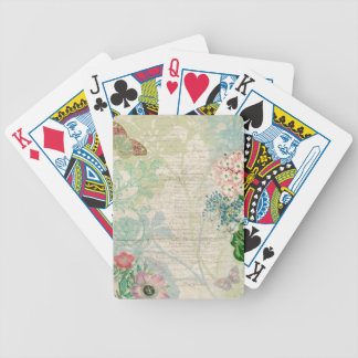 Vintage Floral Collage Playing Cards