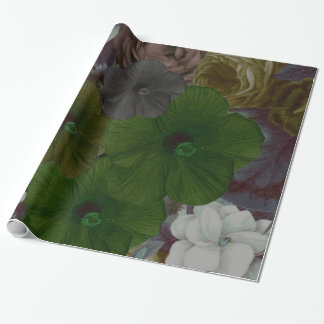 Vintage Floral Collage Wrapping Paper