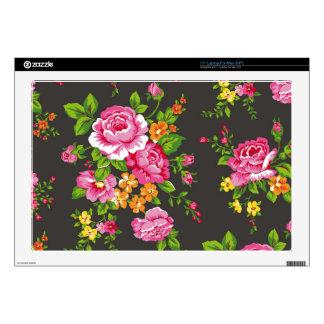 Vintage floral con los rosas rosados calcomanías para 43,2cm portátiles