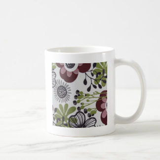 Vintage Floral Cool Design Styles Red Green Coffee Mug