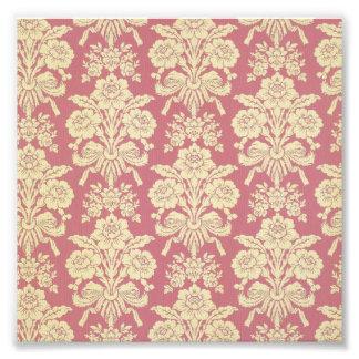 vintage,floral,coral,pink,rustic,damask,victorian, photo print