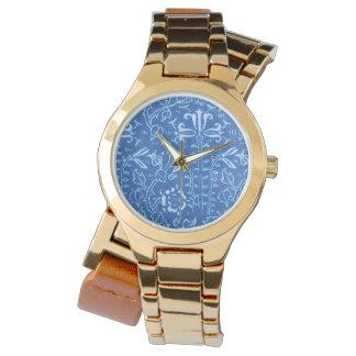 Vintage Floral Cornflower Blue Watch