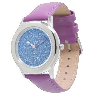 Vintage Floral Cornflower Blue Wristwatches