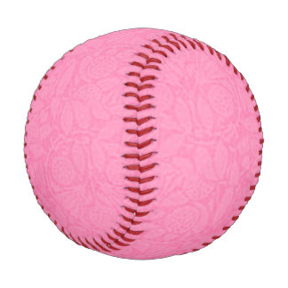 Vintage Floral Cotton Candy Pink Baseball