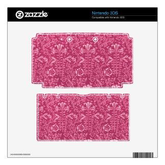 Vintage Floral Country Rose Pink 3DS Skin