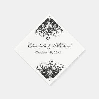 Vintage Floral Country Wedding Birthday Paper Napkin
