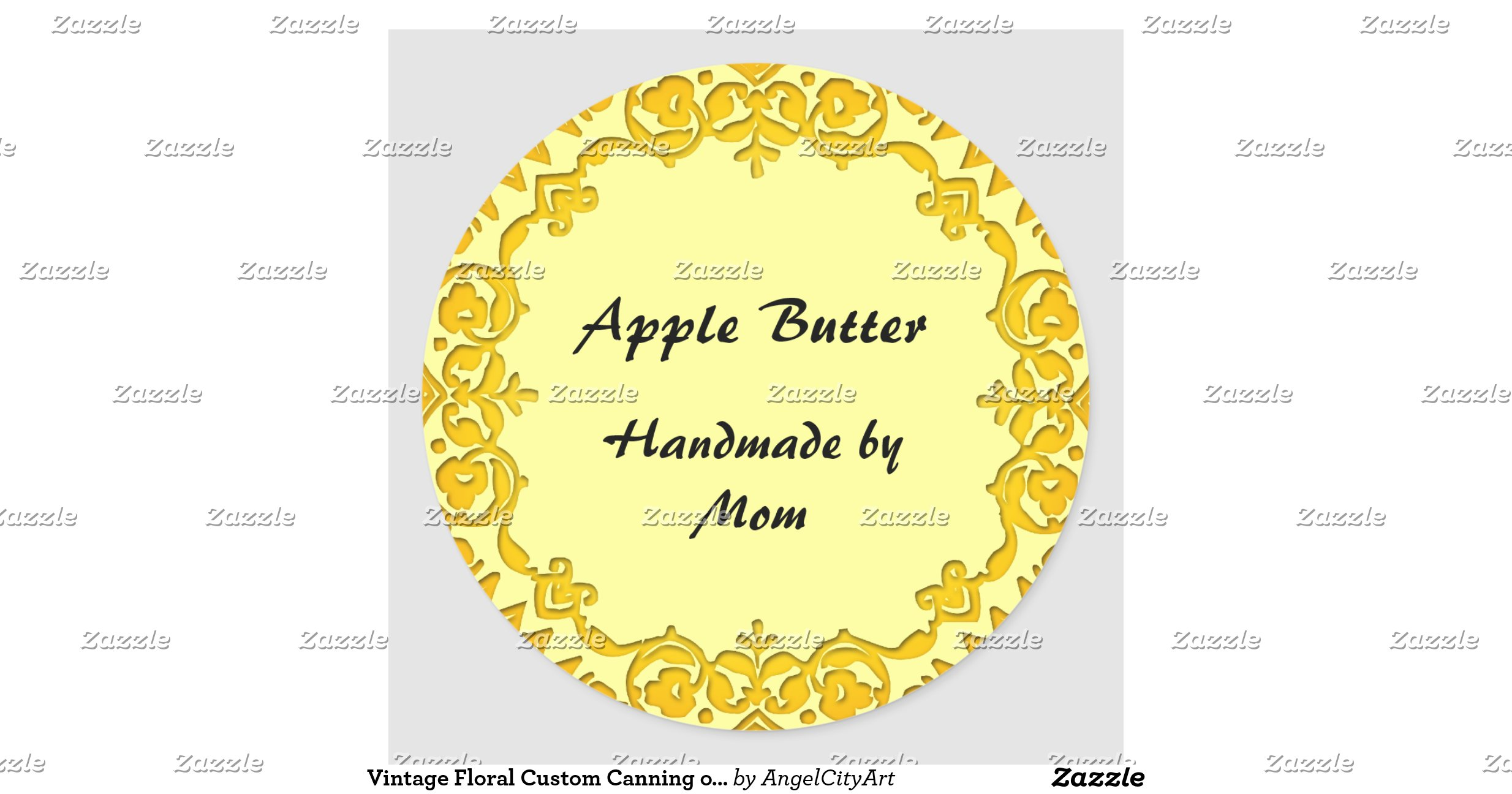 snap vintage canning label custom personalized classic round sticker