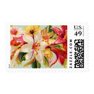Vintage Floral Custom Wedding Stamps