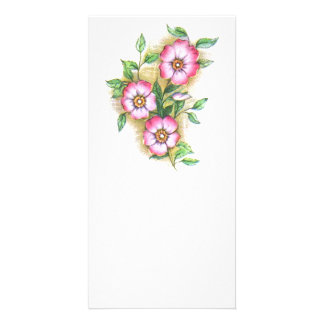 Vintage Floral Customized Photo Card