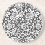 Vintage Floral Damask Elegant Home Gift Idea Drink Coaster
