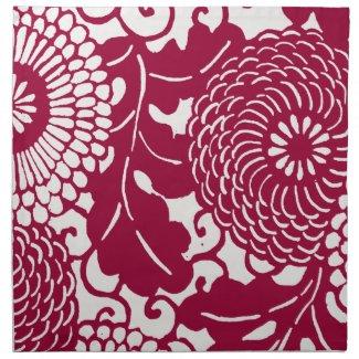 Vintage floral damask pattern mojo_napkin