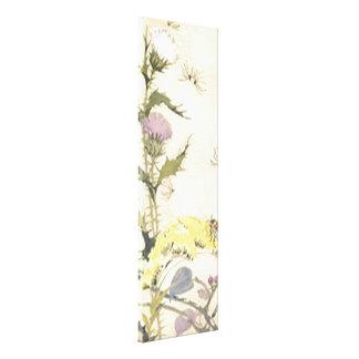 Vintage Floral Dandelions Stretched Canvas